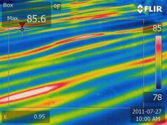 Radiant floor heat infrared scan