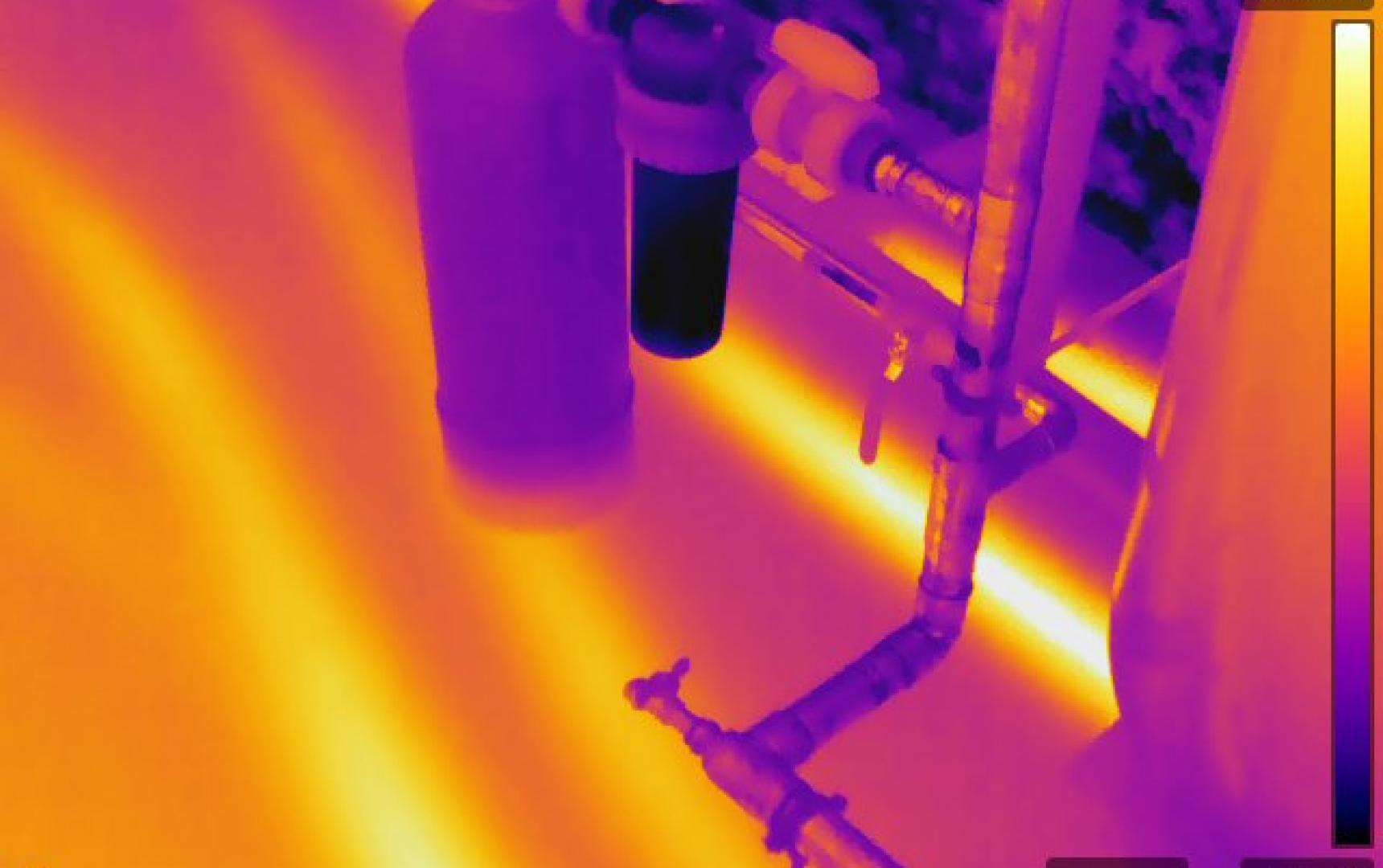 Infrared Diagnostics, infrared scan of radiant floor heat, MA