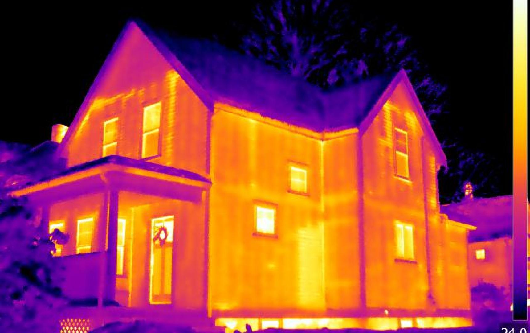 Infrared Diagnostics,  Infrared image of house , MA
